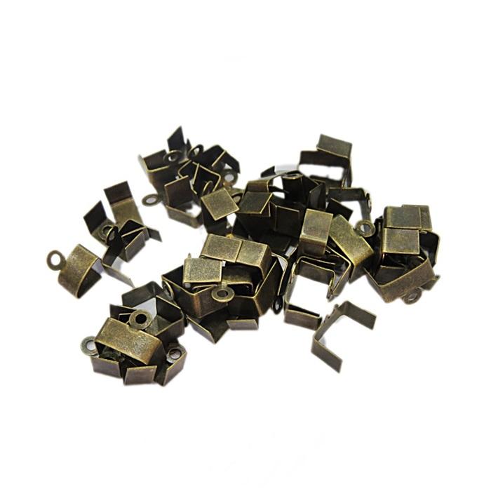 Terminal de amassar c/ saida ouro velho 4mm (100 unid.)- TAO005