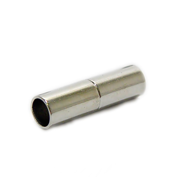 Fecho ima níquel tubo liso (02 unid.)- FIN004