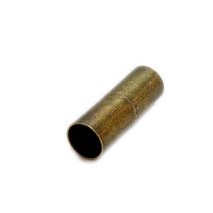 Fecho ima ouro velho tubo liso (01 unid.)- FIO003