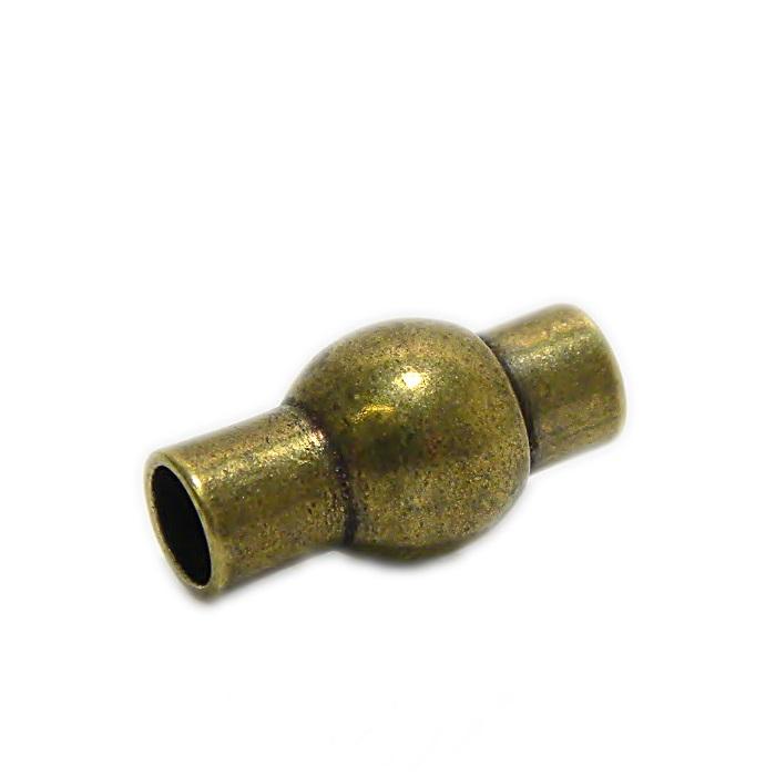 Fecho ima ouro velho c/ bolinha 5.0 (01 unid.)- FIO006