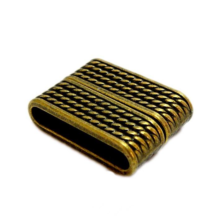 Fecho ima ouro velho retangular trabalhado II (01 unid.)- FIO009