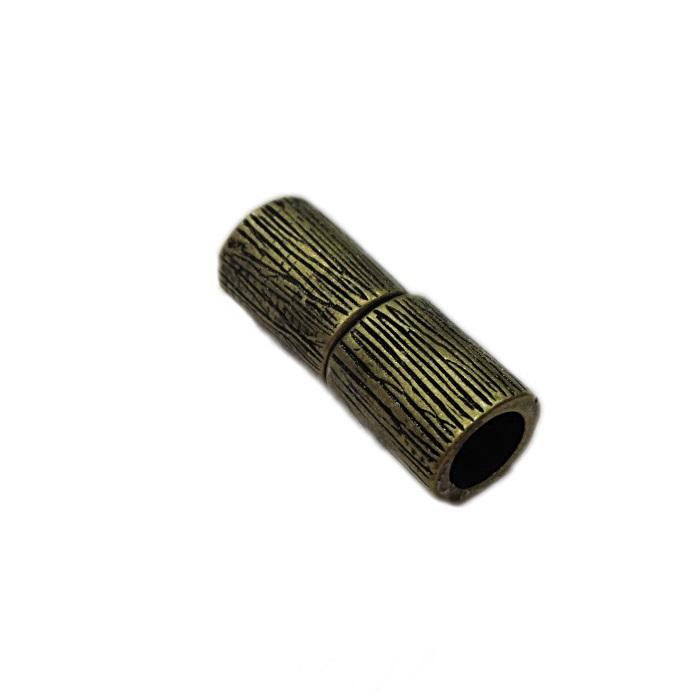 Fecho ima ouro velho tubo riscado (01 unid.)- FIO017