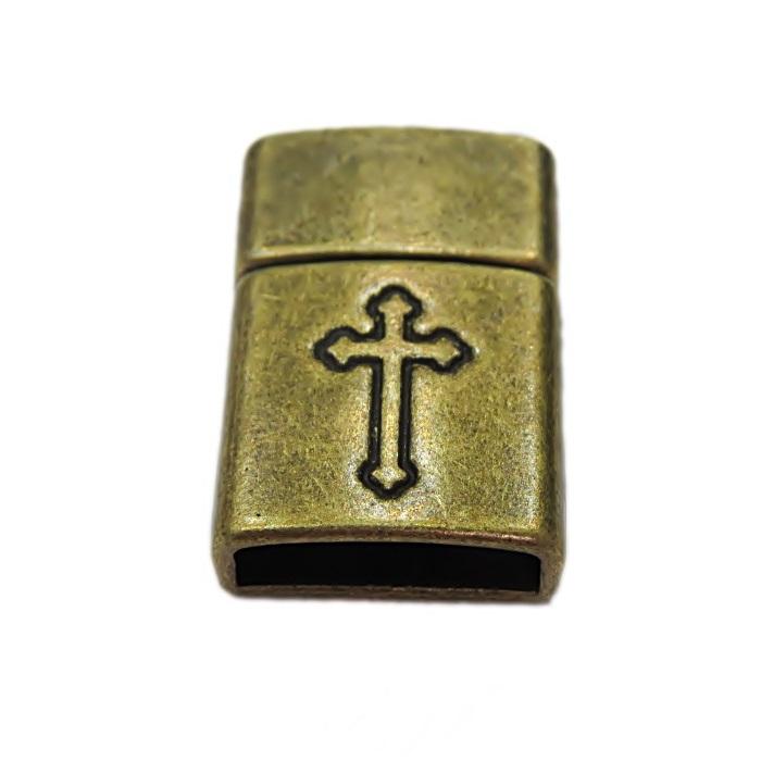 Fecho ima ouro velho desenhado (01 unid.)- FIO021