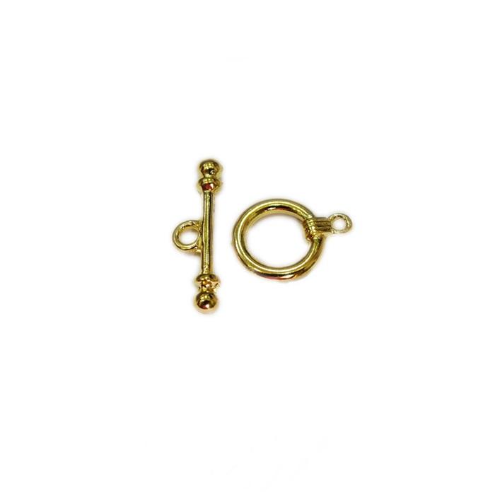 Fecho T Dourado redondo liso P (04 unidades)- FTD001