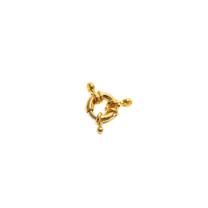 Fecho bóia dourado 15mm (01 unid.)- FBD001