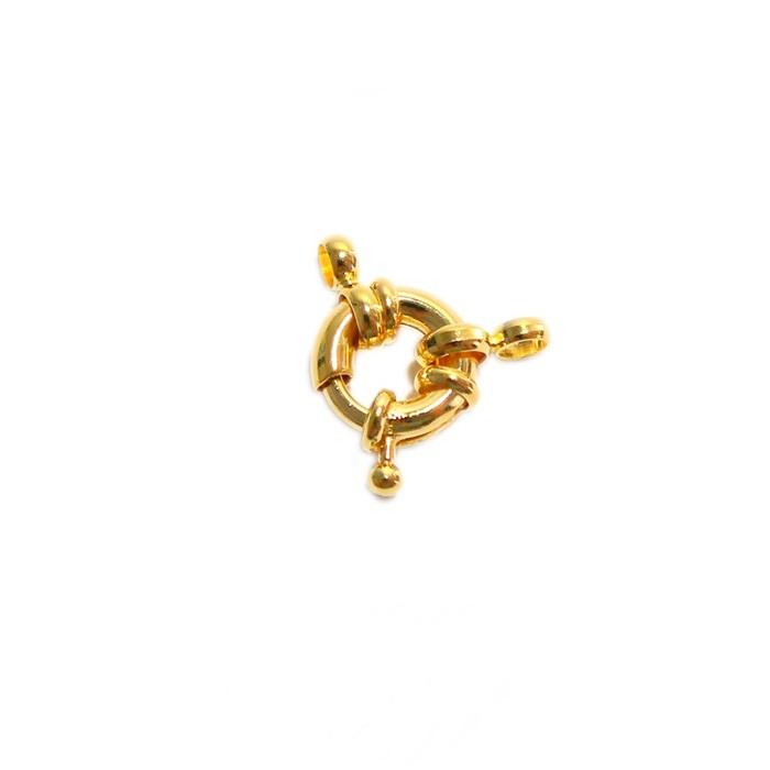 Fecho bóia dourado 17mm (01 unid.)- FBD002