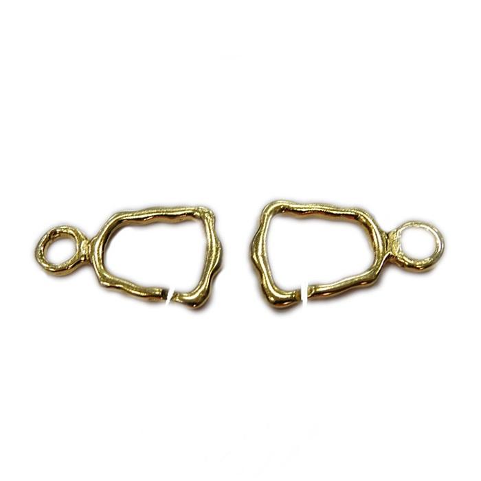 Fecho de encaixe dourado vazado (03 unid.)- FED002