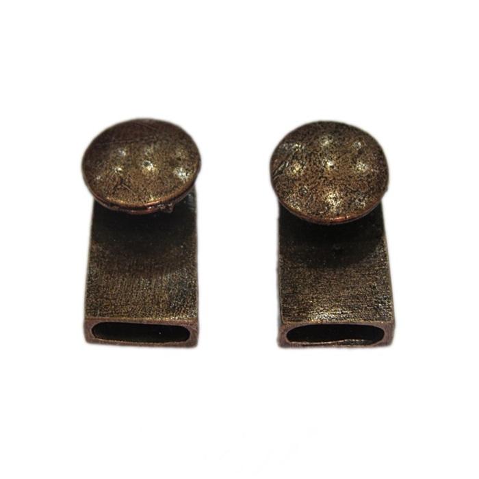 Fecho cobre botão (02 unid.)- FAC002