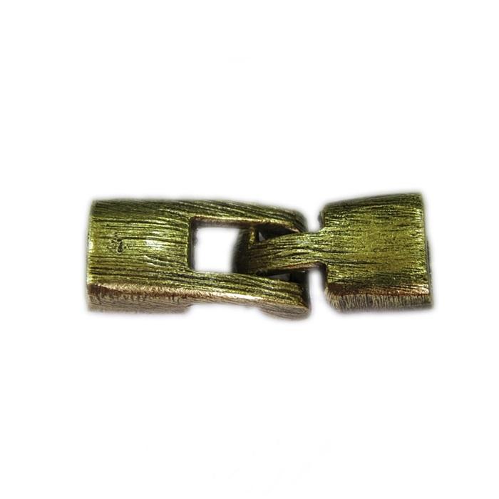 Fecho ouro velho de encaixe retangular M (01 unid.)- FEO002