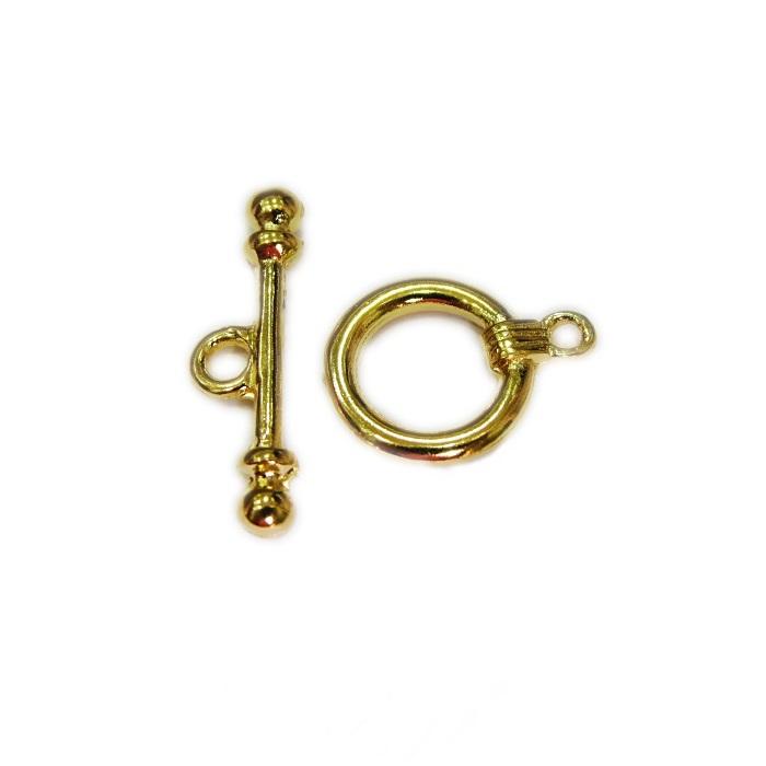 Fecho T Dourado redond M (02 unidades)- FTD002