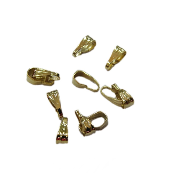 Charneira / contra argola dourada trabalhada P (40 unid.)- CHAD001