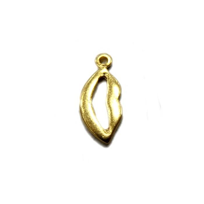 Pingente Boca dourada (10 unidades)- PTD014