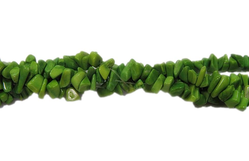 Cascalho natural howlita maça verde- CAS058