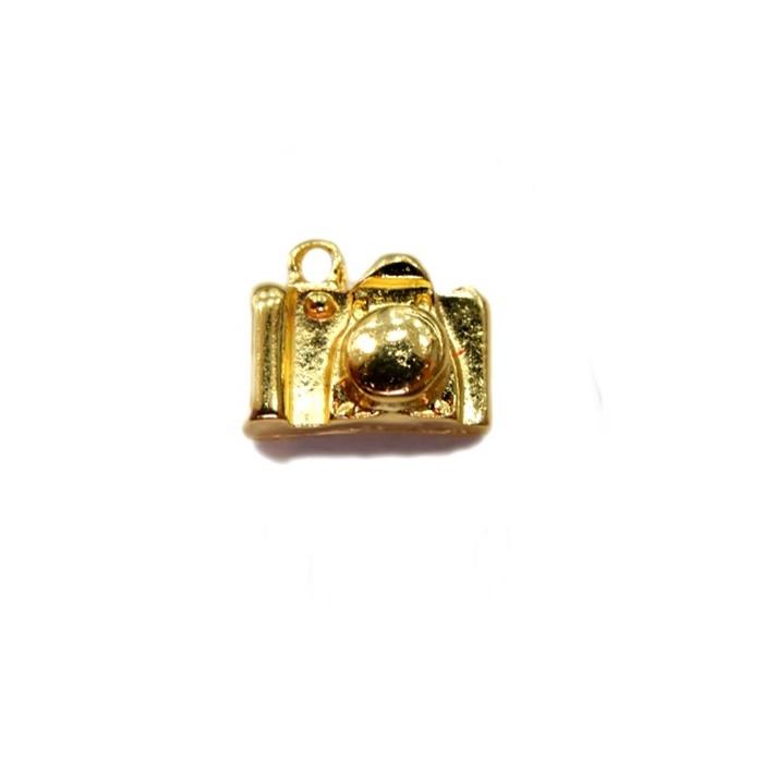 Pingente Máquina Fotográfica dourada- PTD016