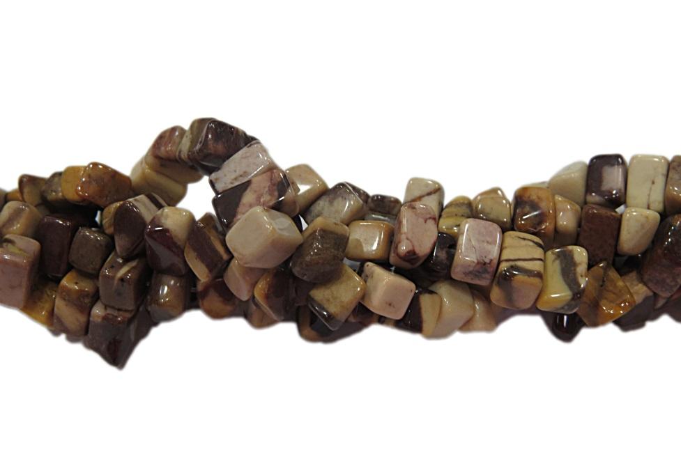 Cascalho natural  jasper zebra marrom- CAS060