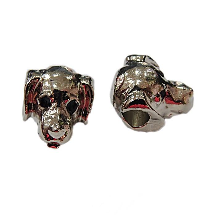 Berloque níquel cabeça de cachorro- BEN359