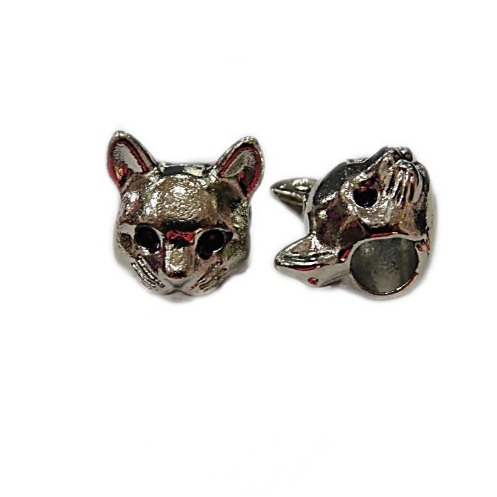 Berloque níquel cabeça de gato- BEN360