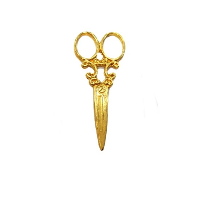 Pingente Tesoura grande dourada- PTD018