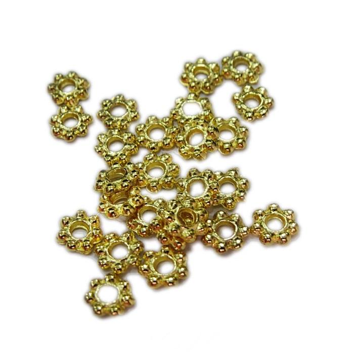 Entremeio dourado florzinha P (10 unid.)- ETD004