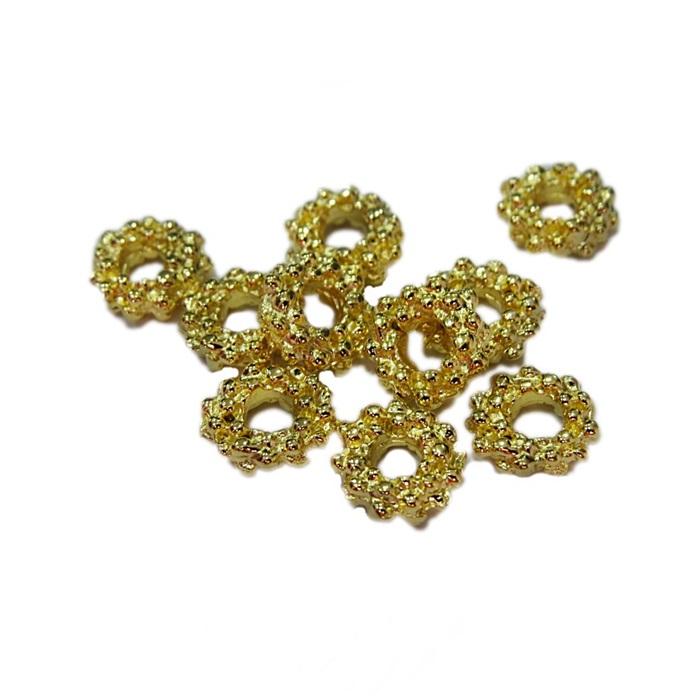 Entremeio dourado florzinha M (06 unid.)- ETD005