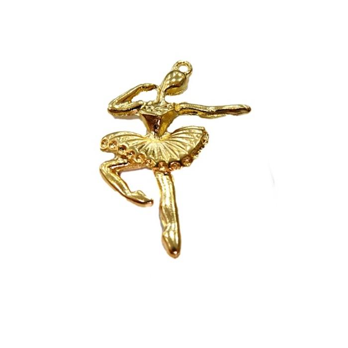 Pingente Bailarina dourada- PTD020