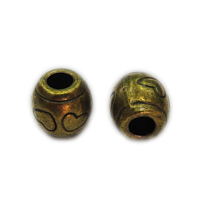 Entremeio ouro velho tubo coração (06 unid.)- ETO004