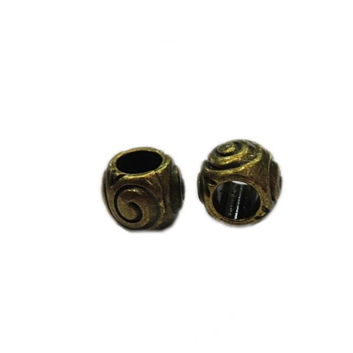 Entremeio ouro velho aspiral (10 unid.)- ETO018