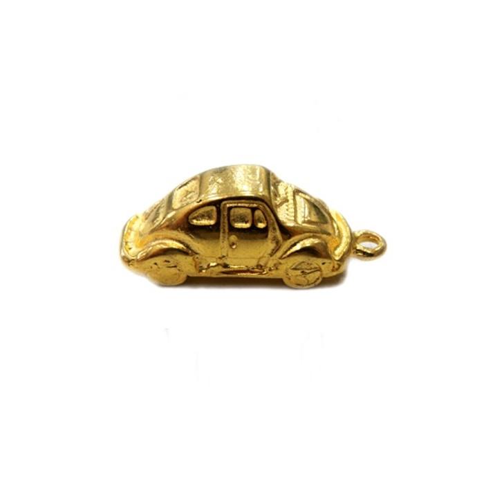 Pingente Fusca dourado- PTD024