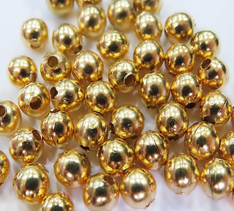 Bolinha dourada de latão lisa Nº 3,5/ Nº 4,5/ Nº 5,5 ou Nº 6,5 (25 grs)- BLD002
