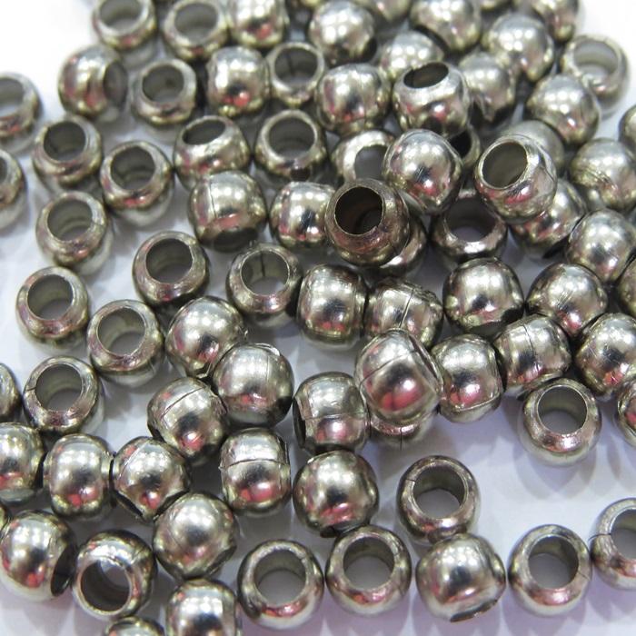 Bolinha níquel lisa c/ buraco grande Nº 5,5 (25 grs)- BLN001