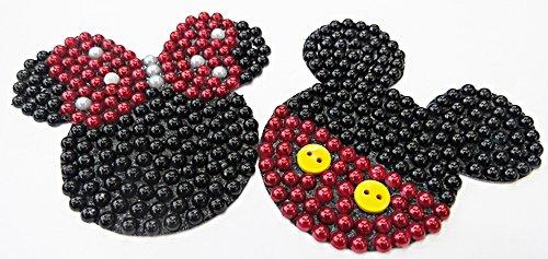 Aplique Mickey e Minnie p/ Chinelo G - APL017