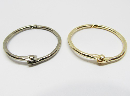 Argola Articulada Niquel e Dourada 5,0cm - ART003