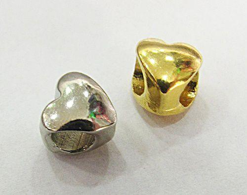 Berloque Passante Coração Niquel /Dourada - BEN833