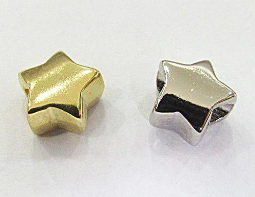 Berloque Passante Estrela Niquel /Dourada - BEN832