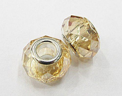Berloque Passante Niquel De Cristal ( Boreal / Light Col.Topz / Cristal / Bege) -BEN762