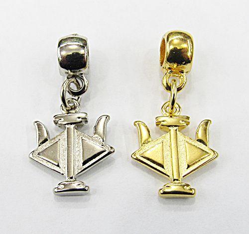 Berloque Ping. Simbolo Profissão RH (Niquel e Dourado) - BEN803