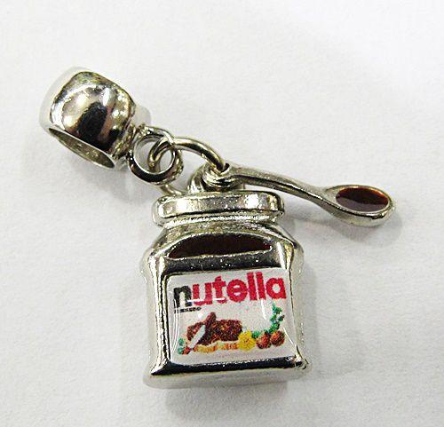 Berloque Pingente Niquel Resinado Nutella c/ Colher - BEN840