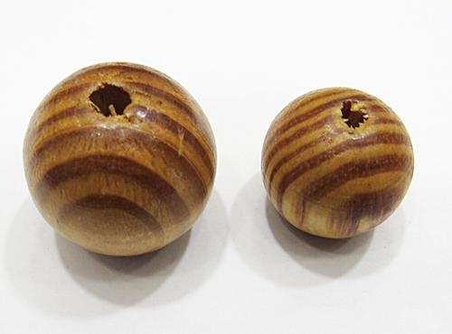Bola De Madeira Caramelo Mesclado G e GG (Atacado e Varejo) - MAD014