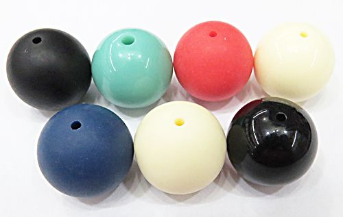 Bolas De Resina N°22 Cores Diversas (02Pçs) - BOR002