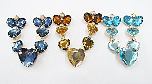 Cabidal Dourado Coração (1Par) - CBD008