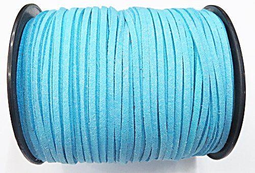 Camurça 3mm Azul Bebe (100Metros) - CG054 ATACADO