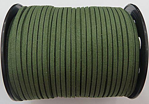 Camurça 3mm Verde Musgo Atacado/ Varejo - CG060