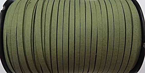 Camurça 5mm verde Musgo Atacado/ Varejo - CG068