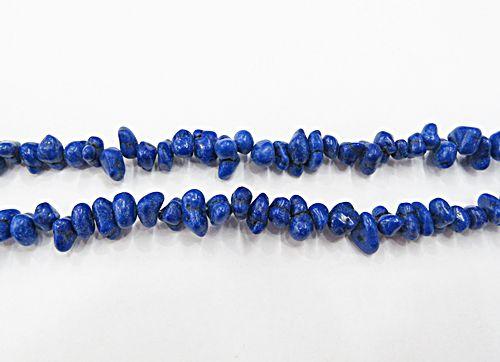 Cascalho Natural Howlita Azul Royal C/ Vetas  - CAS049