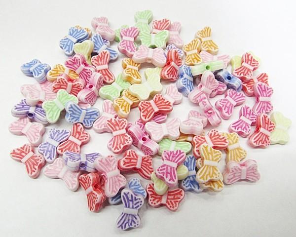Conta Plastica Colorida Borboletinhas (Atacado e Varejo) - COP026