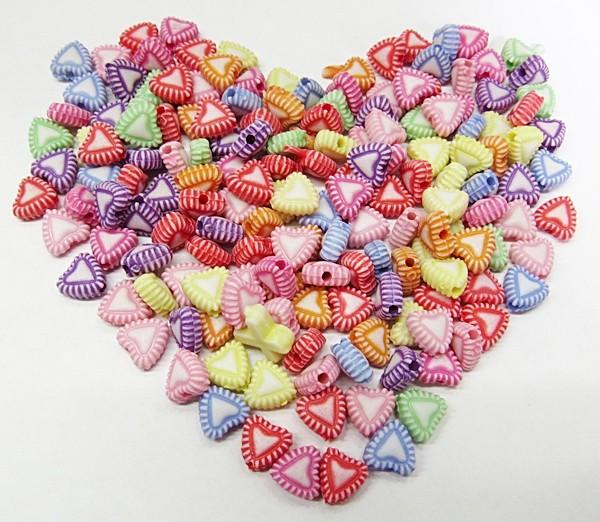 Conta Plastica Colorida Coraçãozinhos (Atacado e Varejo) - COP029