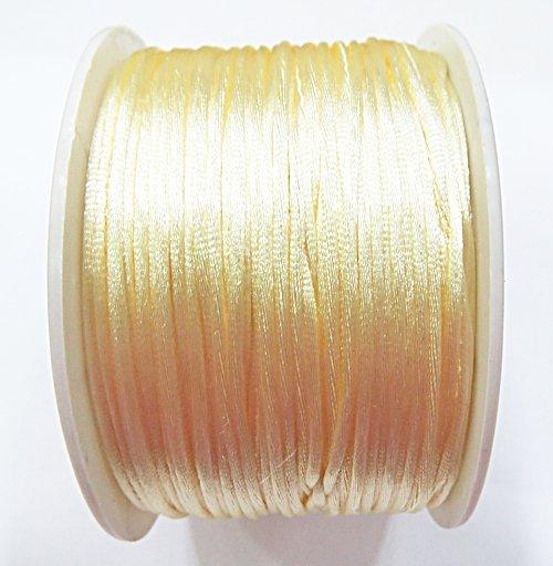 Cordão De Seda Fino Creme (1mm ) - FSF009