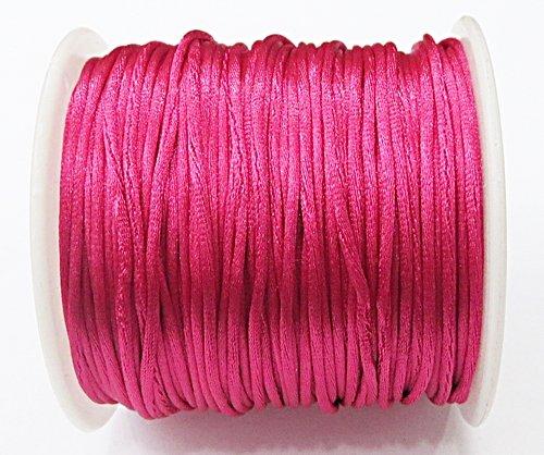 Cordão De Seda Fino Pink (1mm ) - FSF001