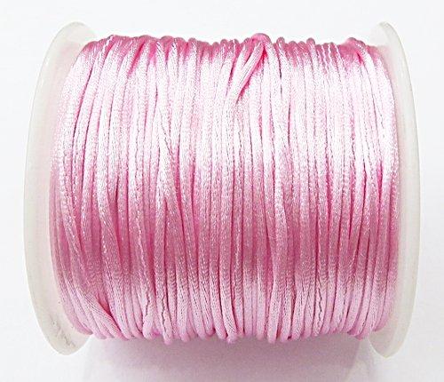 Cordão De Seda Fino Rosa (1mm ) - FSF002