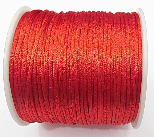 Cordão De Seda Fino vermelho (1mm ) - FSF013